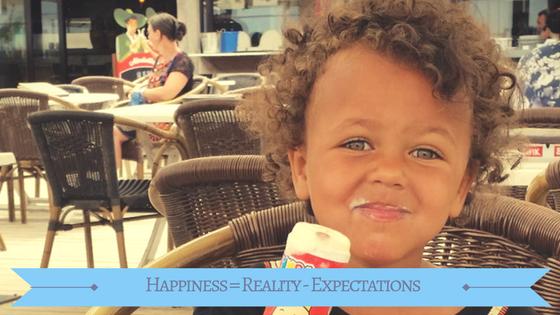 Geluk = realiteit - verwachtingen