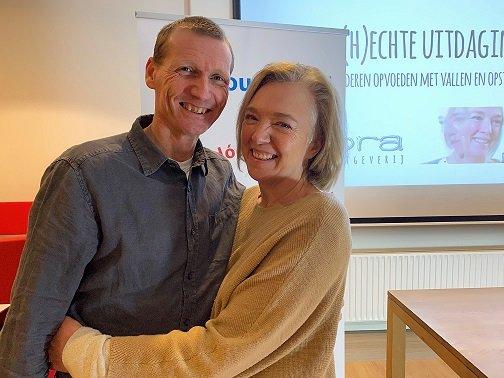 Inge en Mark tijdens de lezing